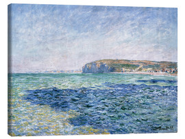 Canvas  shadows on the sea at Pourville - Claude Monet