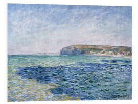 Foam board print  shadows on the sea at Pourville - Claude Monet