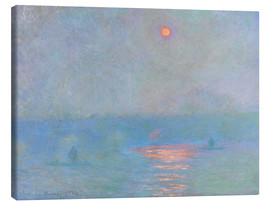 Canvas  Waterloo Bridge - Claude Monet