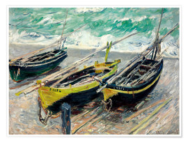Premium poster Three fishing boats