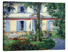 Canvas  Country house in Rueil - Edouard Manet