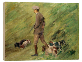 Wood print  Hunter in the Dunes - Max Liebermann