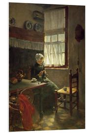 Foam board print  Quiet Work - Max Liebermann