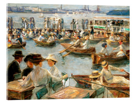 Acrylic glass  By the Alster River - Max Liebermann