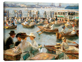 Max Liebermann - By the Alster River