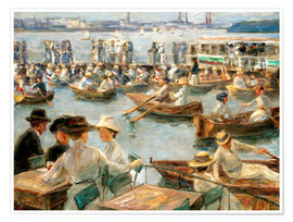 Premium poster  By the Alster River - Max Liebermann
