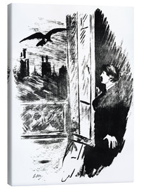Canvas print  E.A.Poe, The Raven - Edouard Manet