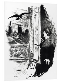 Foam board print  E.A.Poe, The Raven - Edouard Manet
