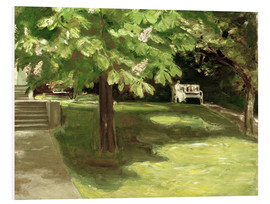 Foam board print  Garden bench under the chestnut - Max Liebermann