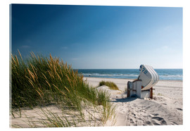 Acrylic print  Beach with dunes and beach grass - Reiner Würz