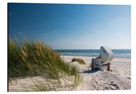Aluminium print  Beach with dunes and beach grass - Reiner Würz RWFotoArt