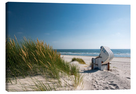 Canvas print  Beach with dunes and beach grass - Reiner Würz