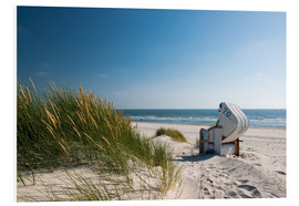 Foam board print  Beach with dunes and beach grass - Reiner Würz