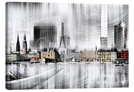 Canvas  Hamburg Skyline Germany - Städtecollagen