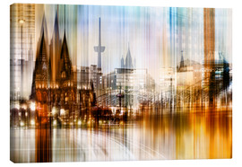 Canvas print  Germany Collonge Köln skyline - Städtecollagen