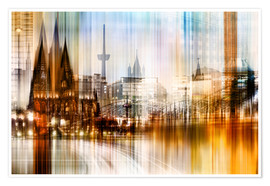 Premium poster Germany Collonge Köln skyline