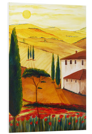 Foam board print  Tuscan idyll 3 (brighter) - Christine Huwer
