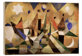 Wood print  Sailing Boats - Paul Klee