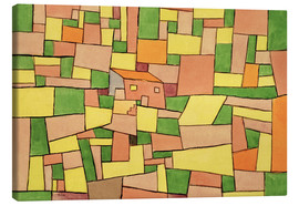 Canvas print  Country House of Thomas R. - Paul Klee