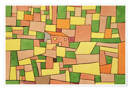 Premium poster  Country House of Thomas R. - Paul Klee