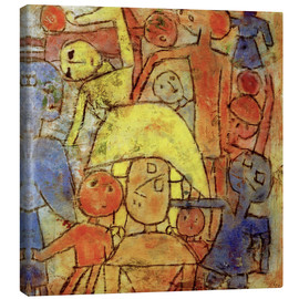 Canvas  Colorful group - Paul Klee