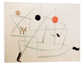 Foam board print  Bewitched and in a hurry - Paul Klee