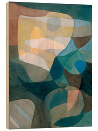 Wood print  Light Propagation - Paul Klee