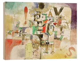 Wood print  The Lettered Piano - Paul Klee