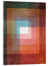 Acrylic glass  White framed polyphonically - Paul Klee