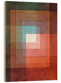 Wood print  White framed polyphonically - Paul Klee