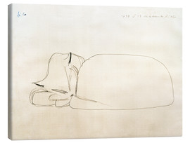 Canvas  slumbering cat - Paul Klee
