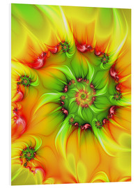Foam board print  Fractal 'On a hot summer day' - gabiw Art