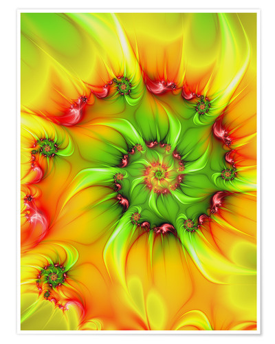 Premium poster Fractal 'On a hot summer day'