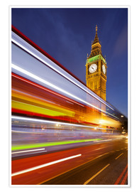 Premium poster  Street lights at Big Ben - Rainer Mirau
