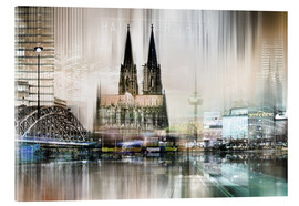 Acrylic print  Abstract skyline in Cologne, Germany - Städtecollagen