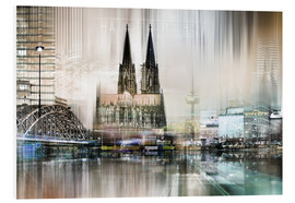 Forex  Abstract skyline in Cologne, Germany - Städtecollagen