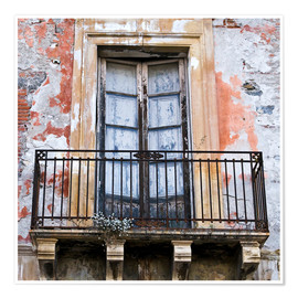 Premium poster Fairytale and Sicilian house facade