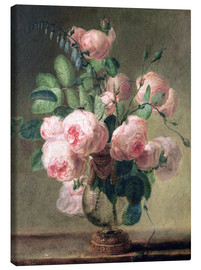 Canvas print  Vase of flowers - Pierre Joseph Redouté