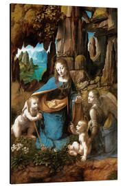 Aluminium print  The Virgin of the Rocks - Leonardo da Vinci