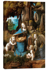 Canvas print  The Virgin of the Rocks - Leonardo da Vinci