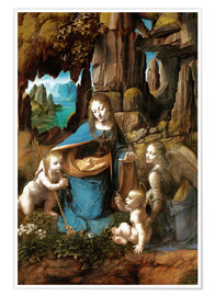 Premium poster  The Virgin of the Rocks - Leonardo da Vinci