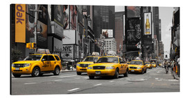 Aluminium print  New York City -Yellow Cabs - Hannes Cmarits