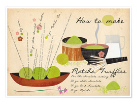 Premium poster How to Make Matcha Truffles