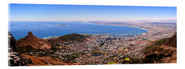 Acrylic glass  Cape Town panoramic view - HADYPHOTO by Hady Khandani