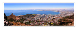 Premium poster Cape Town panoramic view