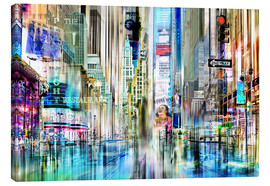 Canvas  USA NYC New York Abstrakte Skyline Collage - Städtecollagen