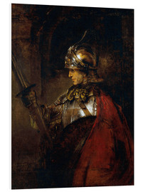 Foam board print  Alexander the Great - Rembrandt van Rijn