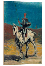 Wood print  Don Quixote - Honoré Daumier