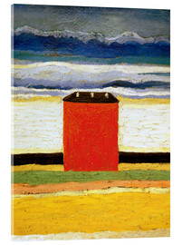Acrylic print  The red house - Kasimir Sewerinowitsch  Malewitsch