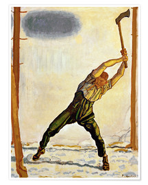 Poster  The Woodcutter - Ferdinand Hodler
